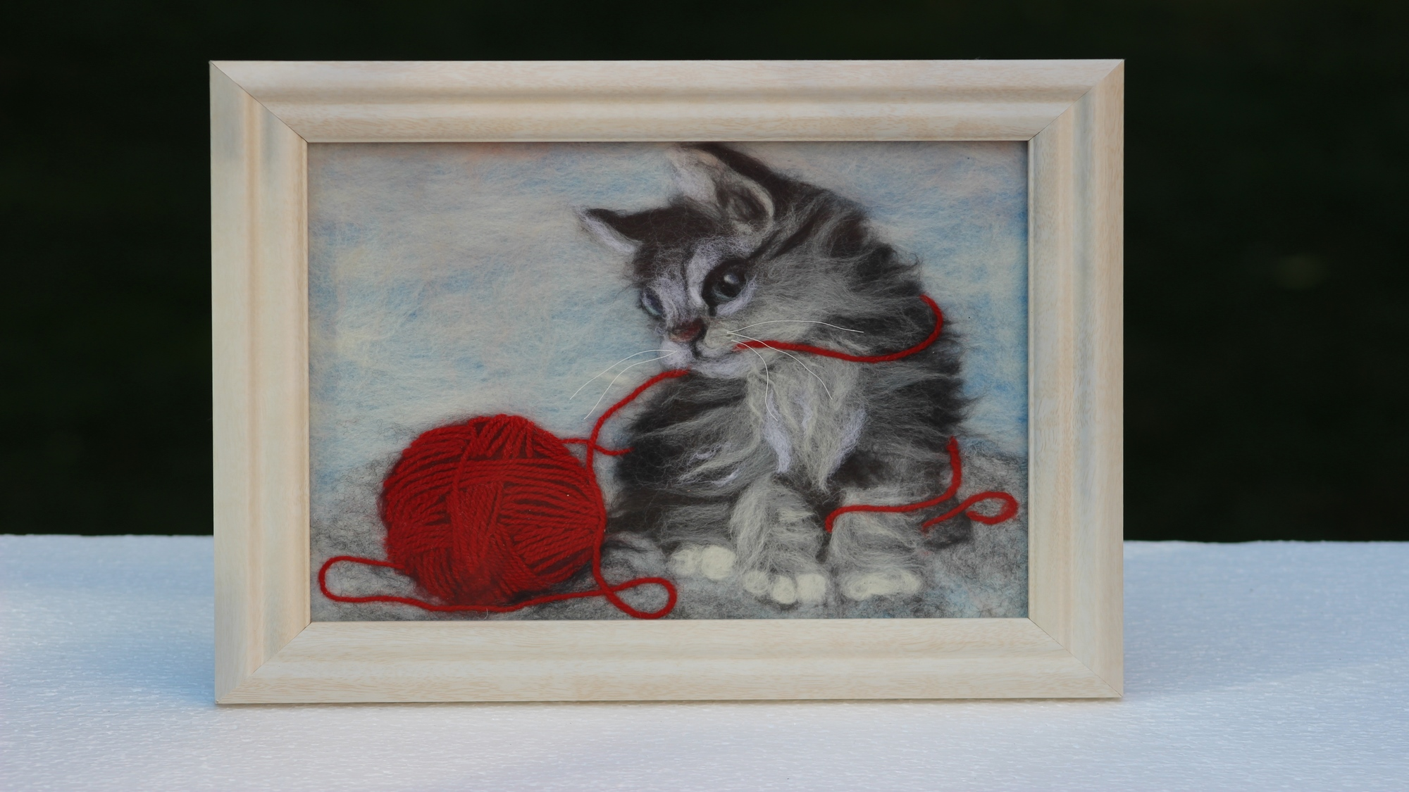 Set of 3 2D felted pictures